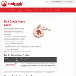 Bad Credit Home Loans - Red Rock Mortgages