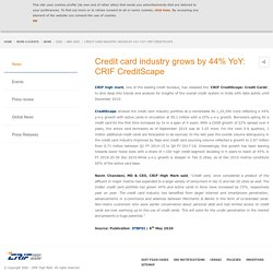 Credit card industry grows by 44% YoY: CRIF CreditScape