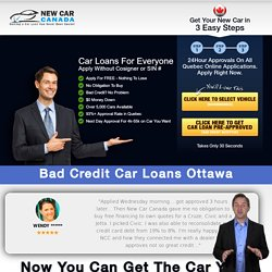 Bad Credit Car Loans Ottawa, ON - No Credit Auto Financing