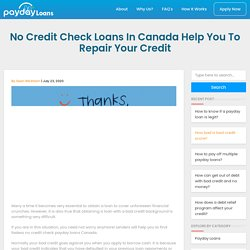 No Credit Check Payday Loans Canada Approved in 5 Min!