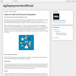 agilepaymentsofficial: Need of Credit Card Payment Integration