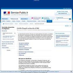 Crédit d'impôt recherche (CIR)