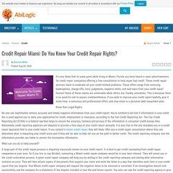 Credit Repair Miami: Do You Know Your Credit Repair Rights?