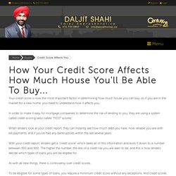 Credit Score Affects You