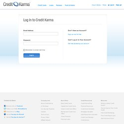 Log on to Credit Karma | Always Free
