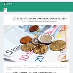 Taux de credits: conso, immobilier, rachat de crédit - Rachat De Crédit Facile