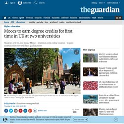 Moocs to earn degree credits for first time in UK at two universities