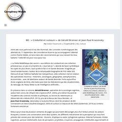 BD : « Crédulité et rumeurs » de Gérald Bronner et Jean-Paul Krassinsky