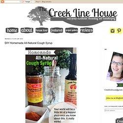 DIY Homemade All-Natural Cough Syrup