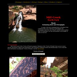 Mill Creek North Fork - Moab - Swimming Hole and Petroglyphs