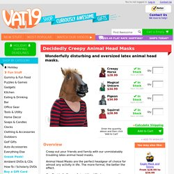 Creepy Animal Head Masks: Latex Horse, Squirrel, Pigeon, and Unicorn masks