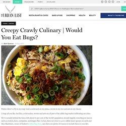 Creepy Crawly Culinary