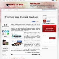 Créer une page d'accueil Facebook | Outils
