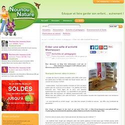 Créer une salle d'activité Montessori