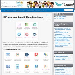 H5P pour créer des activités pédagogiques
