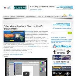 Créer des animations Flash ou Html5 gratuitement