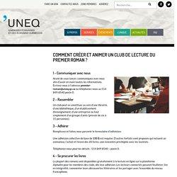 Créer et animer un club de lecture - UNEQ