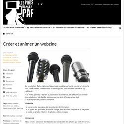 Créer et animer un webzine