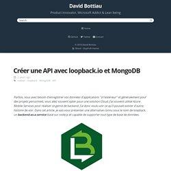 Créer une API avec loopback.io et MongoDB