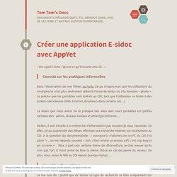Créer une application E-sidoc avec AppYet