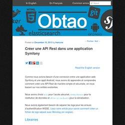 Créer une API Rest dans une application Symfony