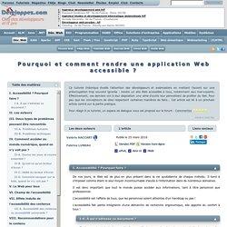 Créer des applications Web accessibles à tous