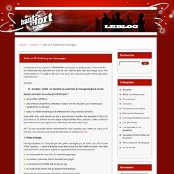 Hautetfort Créér fil d'ariane sur pages blog