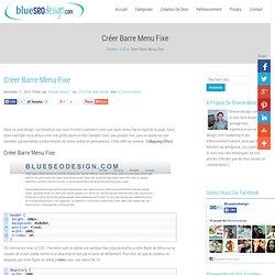 Créer Barre Menu Fixe En Haut de Page - CSS Tutoriels