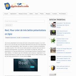 Reel: Pour créer de très belles présentations en ligne