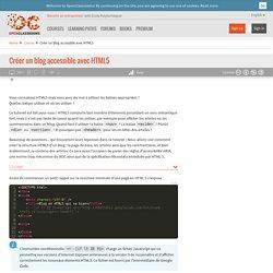 Créer un blog accessible avec HTML5