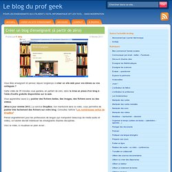 Créer un blog d'enseignant