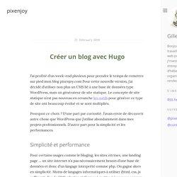 Créer un blog avec Hugo · pixenjoy