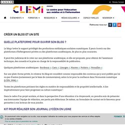 Créer un blog et un site- CLEMI