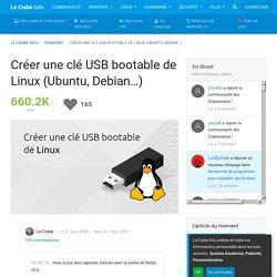 Créer une clé USB bootable de Linux (Ubuntu, Debian…)