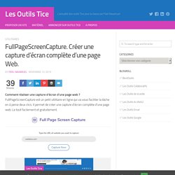 FullPageScreenCapture. Créer une capture d'écran complète d'une page Web.