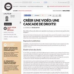 Créer une vidéo : une cascade de droits !