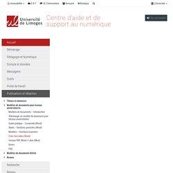 Créer des index (Word) - Centre d'aide et de documentation
