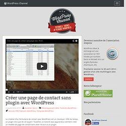 Créer une page de contact sans plugin avec WordPress