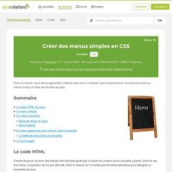 Créer des menus simples en CSS