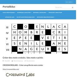 Créer des mots-croisés / des mots-cachés