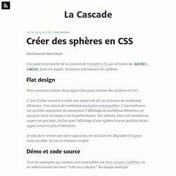 Créer des sphères en CSS