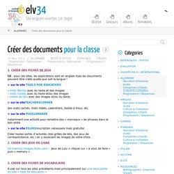Créer des documents pour la classe