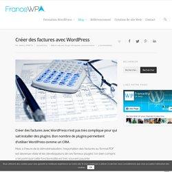 Créer des factures avec Wordpress