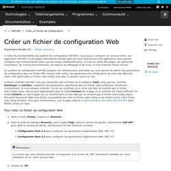 Créer un fichier de configuration Web
