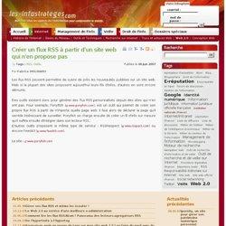 Créer un flux RSS à partir d'un site web qui n'en propose pas