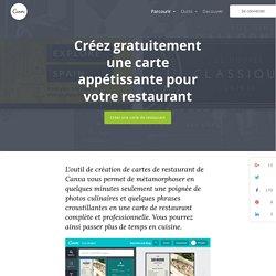 Créer gratuitement et en ligne une carte de restaurant
