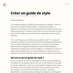 Créer un guide de style