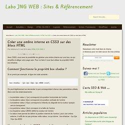 Créer une ombre interne en CSS3 sur des blocs HTML