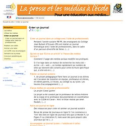 Journal scolaire pedagogie pearltrees - Comment creer un journal ...