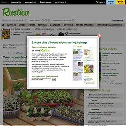 Créer le matériel de semis avec de la récupération